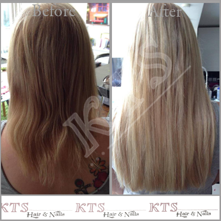 Long blond extensions